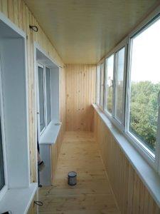 Остекление обшивка балкона