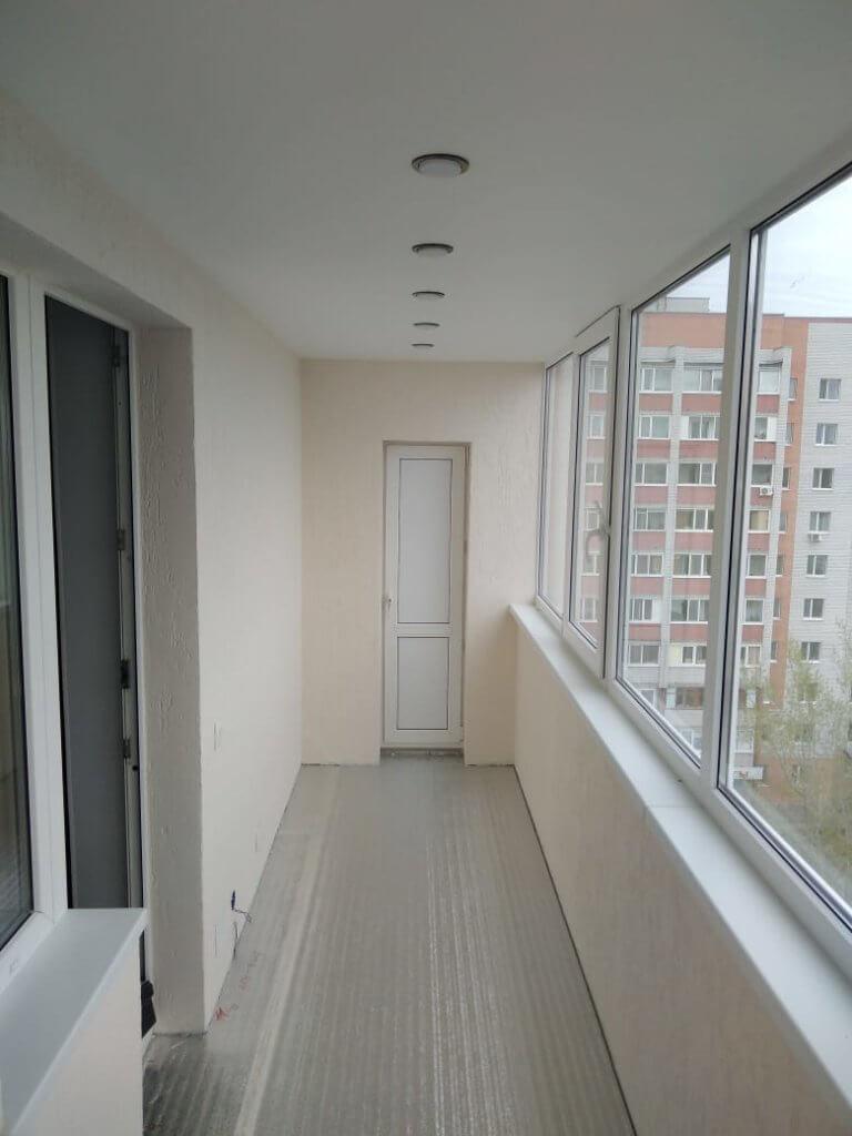 балкон под ключ, штукатурные работы